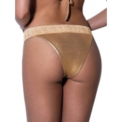 Μαγιό BLUEPOINT Golden Beauty Brazilian Bikini - Μεταλιζέ Lurex & Φαρδύ Λάστιχο - Καλοκαίρι 2019