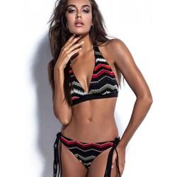 Μαγιό BLUEPOINT Bohemian Lux - Bikini Κανονικό Κοφτό - Πλεκτό Σχέδιο & Λωρίδες - Καλοκαίρι 2019
