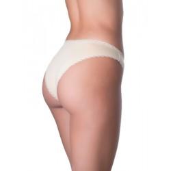 Σλιπ Bikini GΚapetanis All Day - Κανονικό Κοφτό - Ελαστικό Βαμβάκι & Δαντέλα Κέντημα