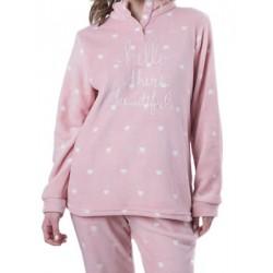 Πυτζάμα Γυναικεία Milkymilla - Απαλό και Ζεστό Fleece - All Over Σχέδιο - Χειμώνας 18/19