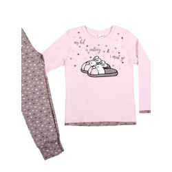 Παιδική Πυτζάμα MINERVA Pink Dream  - 100% Αγνό Βαμβάκι Interlock - Stay Home 2020
