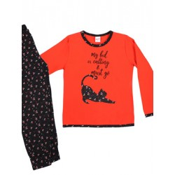 Παιδική Πυτζάμα MINERVA Floral - 100% Αγνό Βαμβάκι Interlock - Stay Home 2020