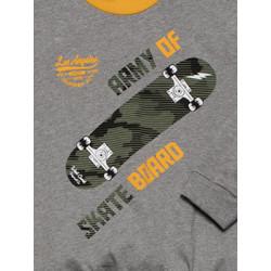 Παιδική Πυτζάμα MINERVA Skateboard - 100% Aγνό Βαμβάκι - Χειμώνας 2021/22
