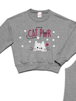 Παιδική Πυτζάμα MINERVA CAT PWR - Ζεστό & Απαλό Φούτερ - Χειμώνας 2021/22
