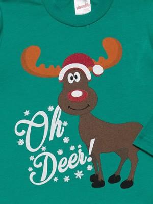 Βρεφική Πυτζάμα MINERVA X-Mas Oh Deer - 100% Aγνό Βαμβάκι - Χειμώνας 2021/22