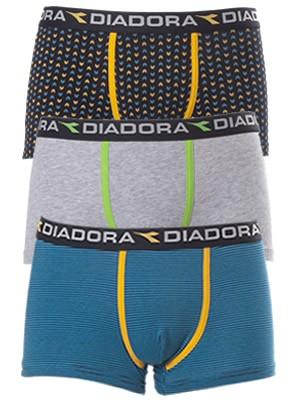Diadora Boxer 5855 - Βαμβακερό - Φαρδύ Λάστιχο - Logo Diadora - 3 τεμάχια