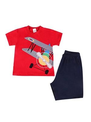Βρεφική Πυτζάμα Minerva Plane για αγόρι - 100% Βαμβάκι