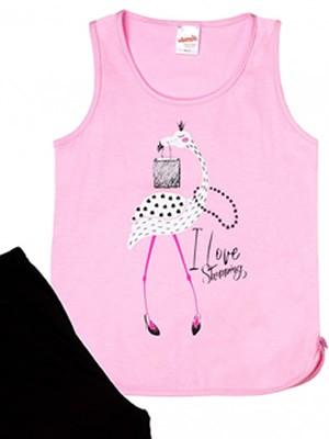Παιδική Πυτζάμα MINERVA Flamingo- 100% Αγνό Βαμβάκι - Smart Choice SS21