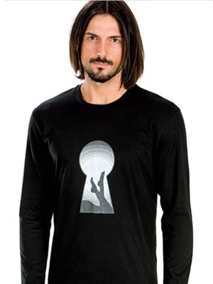 Ανδρική Μπλούζα Homewear MINERVA Βαμβακερή Interlock με Παράσταση Μεταξοτυπίας