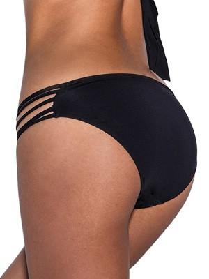 Μαγιό Bluepoint Bonding Bikini Tai - Κανονικό Φαρδύ - Λωρίδες & Leather Look