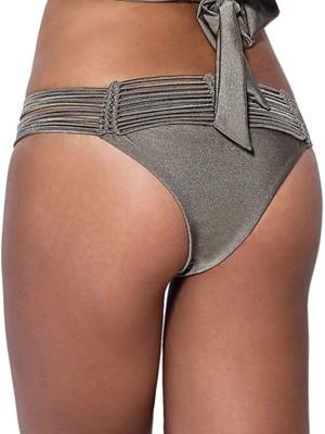 Μαγιό Bluepoint Brazilian Bikini Μεταλιζέ Full Glitz - Πλεχτό Σχέδιο
