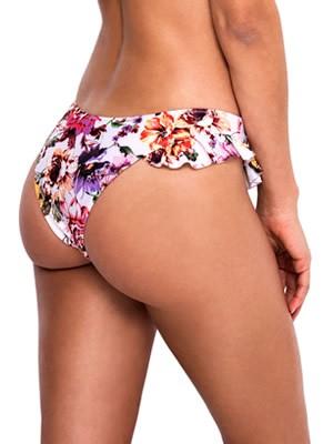 Μαγιό Blu4u Romantic Floral Brazilian Bikini - Βολάν στο Πλάι
