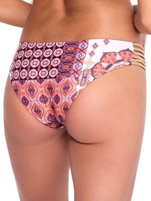 Μαγιό Blu4u Ethnic Gold Bikini Κανονικό - Χωρίς Ραφές - Μεταλιζέ Leather Λωρίδες