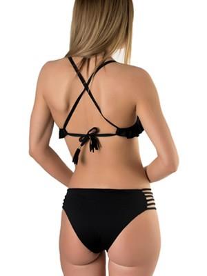 Set Μαγιό Blu4u Solids - Top με Ενίσχυση Βολάν + Bikini με Λωρίδες