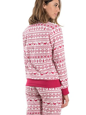 Πυτζάμα Γυναικεία ADMAS - 100% Βαμβακερή - Xmas Σχέδιο - Χειμώνας 2019/20