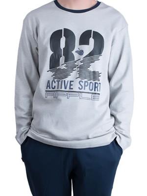 Ανδρική Πυτζάμα Homewear Apple - 100% Βαμβακερή - Sport Style - Χειμώνας 18/19