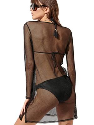 Φόρεμα Beachwear BLU4U Net - Δίχτυ & Χρυσό Lurex - Καλοκαίρι 2020