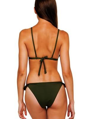 Set Μαγιό BLU4U - Push Up Bra + Bikini Κανονικό Κοφτό - Βολάν - Καλοκαίρι 2019