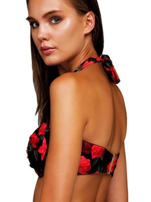 Μαγιό Strapless BLU4U Roses Are Red για Μεγάλο Στήθος - Ενίσχυση & Μπανέλα - Καλοκαίρι 2019