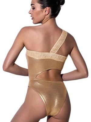 Μαγιό Ολόσωμο BLUEPOINT Golden Beauty - Αόρατη Ενίσχυση - Μεταλιζέ Ύφασμα