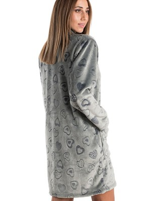 Ρόμπα BONNE NUIT - Ζεστό & Απαλό Fleece - Ανάγλυφο Σχέδιο Καρδιές - Smart Pick 19/20