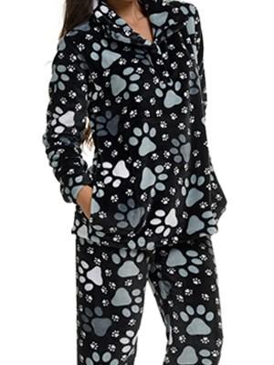 Πυτζάμα Πολυτελείας Bonne Nuit – Ζεστό Fleece – All Over Σχέδιο