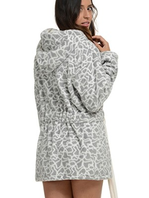 Ρόμπα Πολυτελείας Bonne Nuit – Γεμάτο Fleece – All Over Σχέδιο Καρδιές