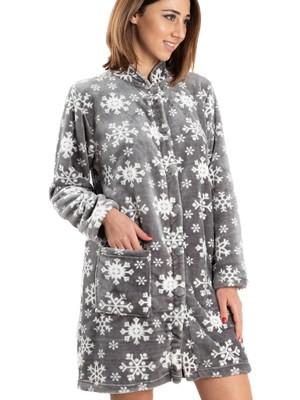 BONNE NUIT Ρόμπα Πολυτελείας - Ζεστό & Απαλό Fleece - All Over Σχέδιο - Χειμώνας 2019/20