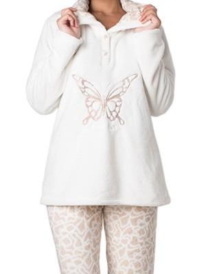Πυτζάμα Πολυτελείας Bonne Nuit – Ζεστό Fleece – Ανάγλυφο Σχέδιο – Hot Pick 18/19