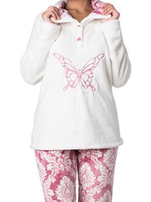 Πυτζάμα Πολυτελείας Bonne Nuit – Ζεστό Fleece – Ανάγλυφο Σχέδιο – Hot Pick 18/19 Φουξ