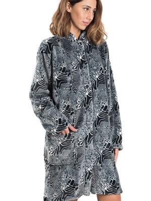 BONNE NUIT Ρόμπα Πολυτελείας - Ζεστό & Απαλό Fleece - Animal Print - Χειμώνας 2019/20