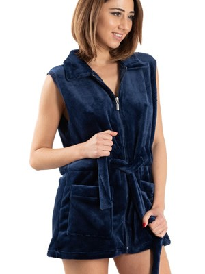 BONNE NUIT Ρόμπα Γυναικεία - Ζεστό & Απαλό Fleece - Τσέπες & Φερμουάρ - Stay Home 2020