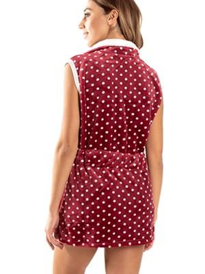 Γυναικεία Ρόμπα BONNE NUIT - Ζεστό & Απαλό Fleece - Dots Πουά - Smart Choice FW20/21