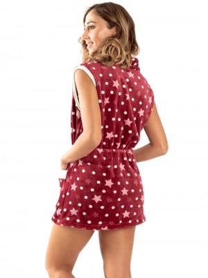 Γυναικεία Ρόμπα BONNE NUIT - Ζεστό & Απαλό Fleece -Stars - Smart Choice FW20/21