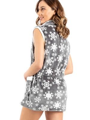 Γυναικεία Ρόμπα BONNE NUIT - Ζεστό & Απαλό Fleece -Snow - Χειμώνας 2020/21