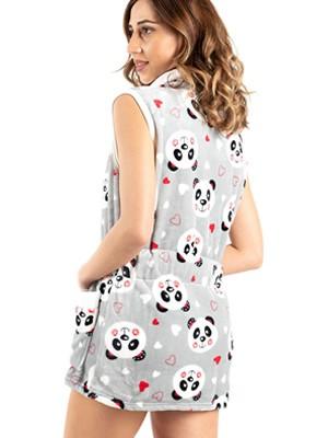 Γυναικεία Ρόμπα BONNE NUIT - Ζεστό & Απαλό Fleece - Panda - Χειμώνας 2020/21