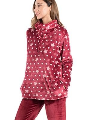 Πυτζάμα Πολυτελείας BONNE NUIT - Ζεστό  Fleece - Stay Warm - Stay Home 2020