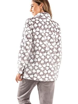 Πυτζάμα Πολυτελείας BONNE NUIT - Ζεστό  Fleece - Καρδιές - Smart Choice FW20/21