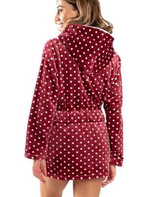 Ρόμπα Πολυτελείας BONNE NUIT - Απαλό & Ζεστό Fleece - Dots Πουά - Smart Choice FW20/21