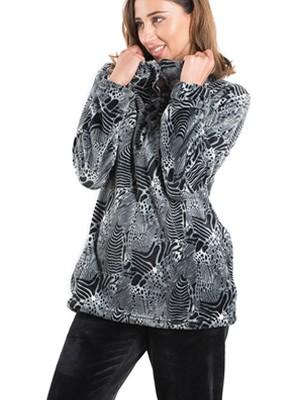 BONNE NUIT Πυτζάμα Πολυτελείας - Ζεστό  Fleece - Animal Print - Χειμώνας 2019/20