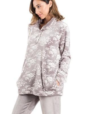 BONNE NUIT Πυτζάμα Πολυτελείας - Ζεστό & Απαλό Fleece - Stay Home 2020