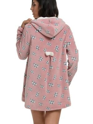 Ρόμπα Πολυτελείας Bonne Nuit – Γεμάτο Fleece – Σχέδιο Καρό Καρδιές