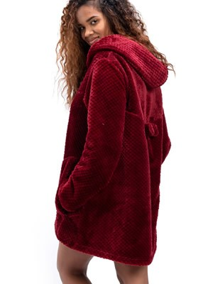 Ρόμπα Πολυτελείας BONNE NUIT - Απαλό & Ζεστό Fleece - Φιόγκος - Χειμώνας 2020/21
