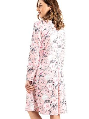 Νυχτικό BONNE NUIT - Γεμάτο Βαμβάκι - Floral Σχέδιο & Δαντέλα -Νέα Μαμά - Χειμώνας 2020/21