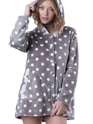 Ρόμπα Πολυτελείας Bonne Nuit - Γεμάτο Fleece - All Over Dots Πουά