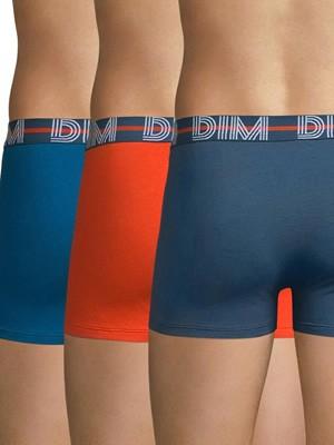 DIM Ανδρικό Boxer 87I - Cotton Stretch - Ελαστικό Βαμβάκι - Πακέτο με 3
