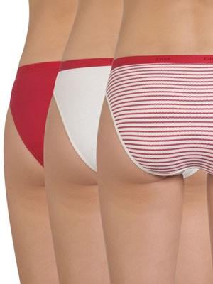 DIM Γυναικεία Σλιπς Les Pockets Coton - Βαμβακερά - Πακέτο με 3 τεμάχια 4V7