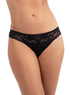 DORINA Slip Bikini Κανονικό Angie - 1+1 ΔΩΡΟ - Σατινέ Ύφασμα & Δαντέλα