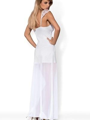 Obsessive FEELIA Νυφικό Σετ - Σατέν Φόρεμα με Δαντέλα & String