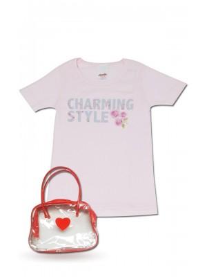 T-Shirt Φανέλα Minerva CHARMING STYLE   για κορίτσι - Floral Σχέδιο